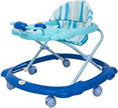 Baybee Baby Walker Round Kids Walker for Babies Cycle with Adjustable Height and Musical Toy Bar Rattles and Toys Ultra Soft Seat-Activity Walker for Kid and Wheel 6 Months to 2 Years (Blue&SkyBlue)