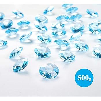 Sweelov 500Stk Rot Herzen Diamantkristalle Streudeko Deko Funkelnd Steine Kristalle Konfetti Diamanten 12mm