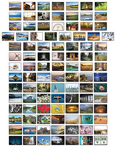 Landschafts-Postkarten, 100 verschiedene Postkarten.