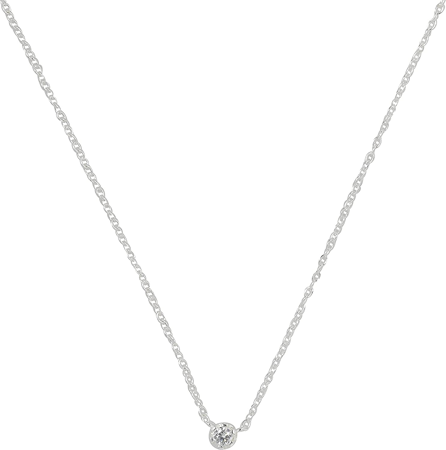 Dainty Silver Diamond Choker Ranking TOP3 Necklace - Raleigh Mall