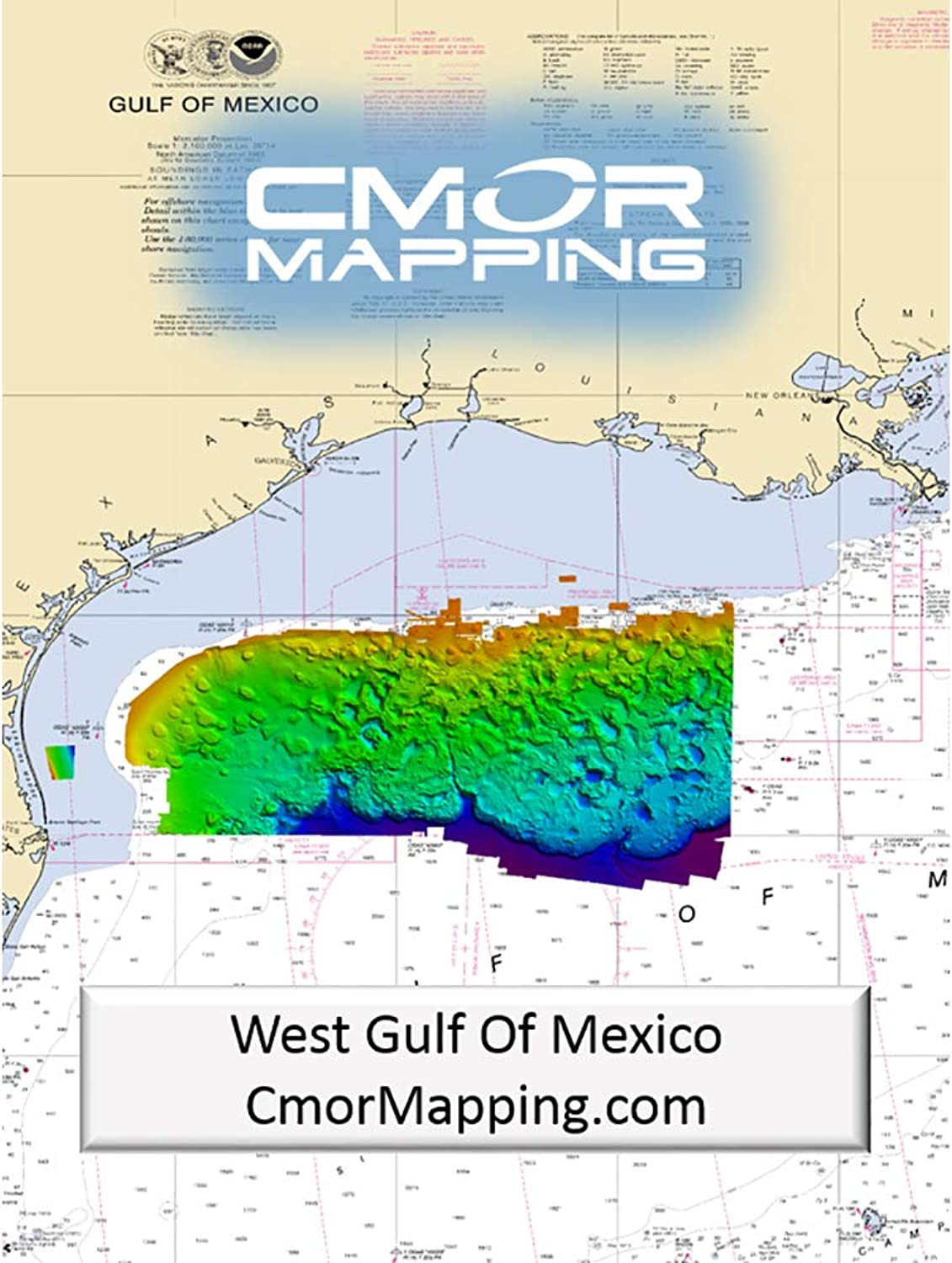 CMOR Mapping West Gulf of Mexico for Simrad, Lowrance, B&G & Mercury