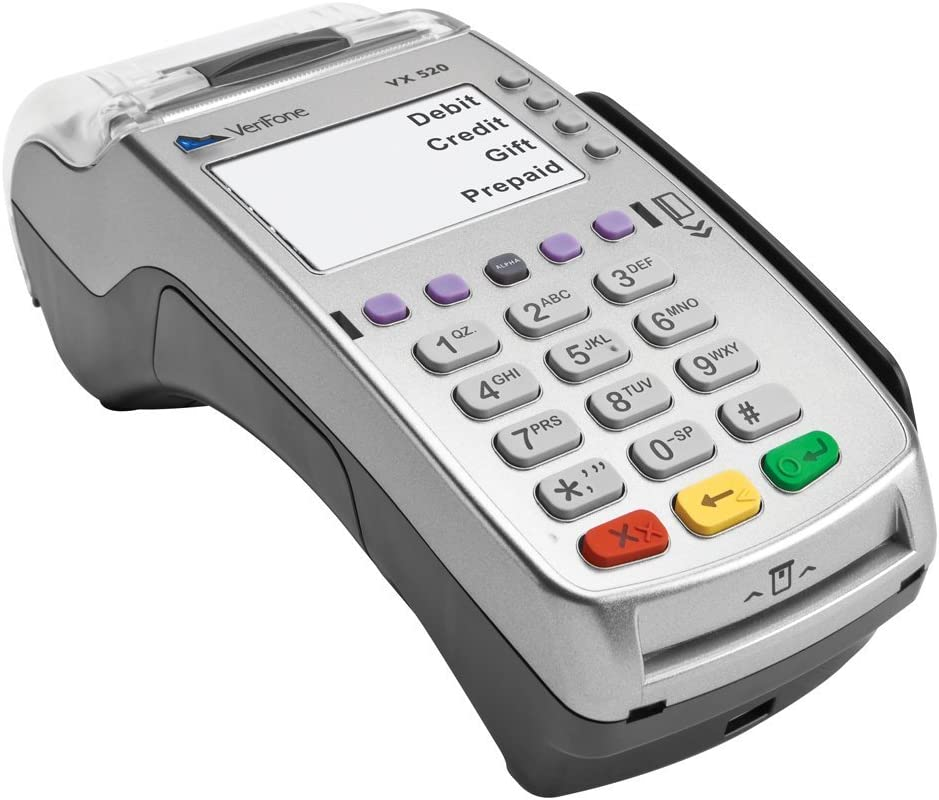 VeriFone VX 8 Dual Com 8 Mb Credit Card Machine, EMV (Europay, MasterCard, Visa) and NFC (Near Field Communication) or Contactless, Dial Up and