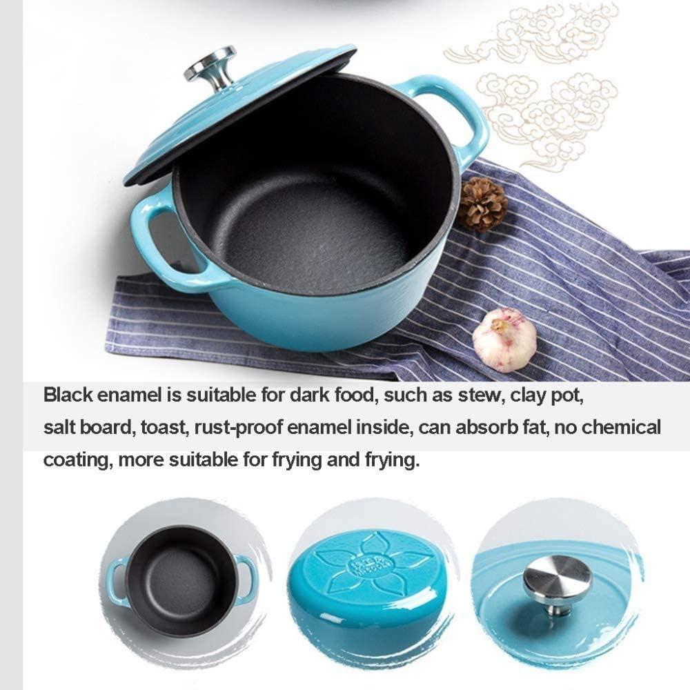 LIUCHANG Marmite Émail, 100% Plomb durci Téléchargement Sécurisé Hand Made Fer 1.2 L Applicable marmite à Soupe Vapeur, Rouge (Couleur: Bleu) liuchang20 (Color : Orange) Blue