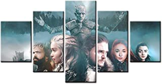 Wall Artwork Home Decoration Hd Print 5 Piece Movie Character Poster Game of Thrones Picture for Living Room Frame Canvas Painting Modular