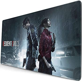 Resident Evil Mouse Pad Rectangle Non-Slip Rubber Electronic Sports Oversized Large Mousepad Gaming Dedicated,for Laptop Computer /& PC 11.8X31.5 Inch