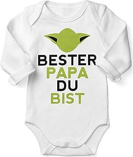 Mikalino Babybody mit Spruch für Jungen Mädchen Unisex Langarm Bester Papa Du bist | handbedruckt in Deutschland | Handmade with Love