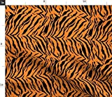 Spoonflower Fabric - Tiger Stripes Animal Print Costume Pattern Kid Child Printed on Petal Signature Cotton Fabric by The Yard - Sewing Quilting Apparel Crafts Decor