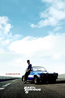 """Fast and Furious 6 Movie Poster (Size: 24"""" x 36"""")"""