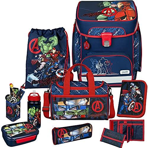Avengers - SCOOLI Undercover EasyFit Schulranzen-Set 10tlg. mit Sporttasche, BROTDOSE und TRINKFLASCHE - STIFTEBECHER und GELDBÖRSE GRATIS!