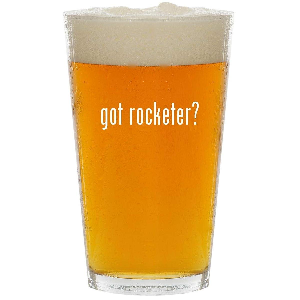 got rocketer? - Glass 16oz Beer Pint