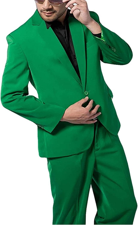 2 Pcs One Button Men Suits Blazer Pants Wedding Grooms Tuxedo