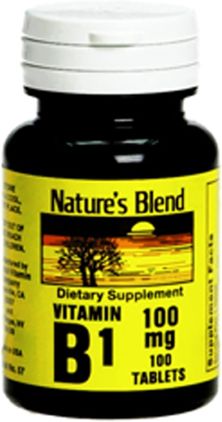 Mail order Challenge the lowest price of Japan ☆ cheap Nature's Blend Vitamin B-1 100 ct mg 2 Pack Tablet