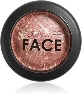 FOCALLURE Cheek Blush, Buildable & Blendable Blush Cruelty Free Powder Blush Shape, Contour & Highlight Face with Matte or Shimmery Color Rose Infused Cheek Color, Z6