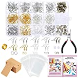 Caydo 700 Pieces Earring Making Supplies Kit with Instructions, Earring Display Cards, Fish Hook Earrings and...
