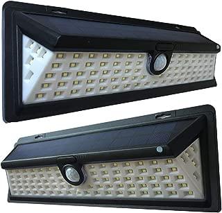 Solar Lights Outdoor, 90 LED Wireless Motion Sensor Waterproof Security Light for Front Door Yard Garden Garage Patio Deck Porch, 2 Pack (90 LED Solar Lights)