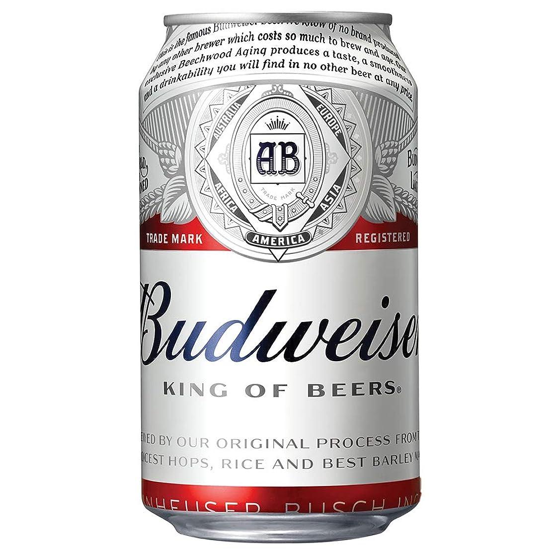多分帽子追い払うバドワイザー ビール 355ml缶 [ ラガータイプ アメリカ 355ml×24本 ]
