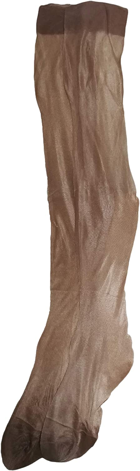 Tomtop201309 Women's Ultra Thin 10D Pure Nylon Oil Shiny Silky Nonelastic Wide Border Thigh high Stockings
