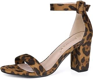Women's Floral Ankle Strap Block Heel Sandals