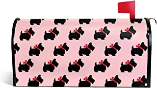 PBZNAN Scottish Terrier Dog Cute Mailbox Covers Magnetic Mail Post Cover Mailbox Wraps 25.5x21 in