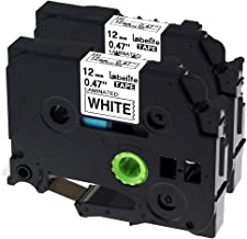 Labelife Compatible Label Tape Replacement for Brother TZ Tape 12mm 0.47 Laminated Black on White TZe-231 TZe 231 Compatible with P-touch PT-D210 PT-H100 PTD400AD PT-P1280 PTD600, 26.2 ft (8m), 2 Pack