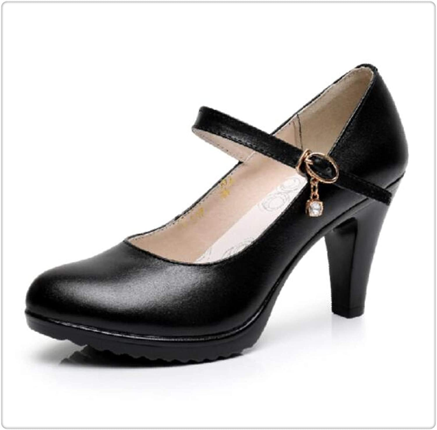 Yyixianma Genuine Leather Women 's shoes Platform Sexy high Heels Round Toe Comfortable