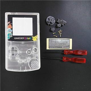 Boîtier de remplacement complet avec boutons et vis pour Nintendo Gameboy Couleur GBC Blanc transparent
