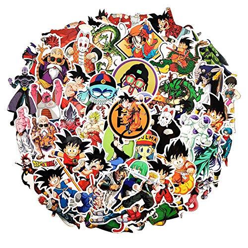 TAOSENG Pegatina de Anime de Dibujos Animados para Muebles, Silla de Escritorio, Coche de Juguete, Maletero, TV, portátil, Guitarra móvil, Motocicleta, 50 unids/Pack