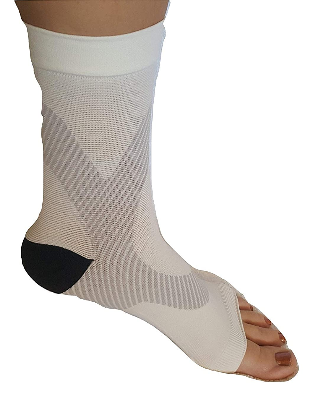 Actual Labs Plantar Fasciitis Compression Sleeves (1 pair) Better than night splints, shoe, insoles, orthotics, braces, tendon, foot, heel spur, and ankle pain relief for nurses, maternity, running,