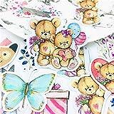 BLOUR 20 Piezas Lindo bebé Oso de Peluche Pegatinas Manualidades y Pegatinas de álbum de Recortes Libro Etiqueta de Estudiante Pegatina Decorativa Juguetes para niños