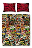 Marvel Character World Disney Comics - Juego de Funda de edredón Doble, Reversible, Multicolor