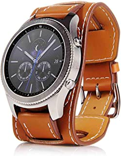 22mm Reloj de pulsera hombre mujer reloj banda para reloj pulsera de piel de repuesto Reloj de pulsera Relojes accesorios Watch Band marrón negro