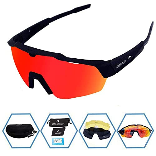 62dbc989689fa GIEADUN Sports Sunglasses Protection Cycling Glasses with 4 Interchangeable  Lenses Polarized UV400 for Cycling