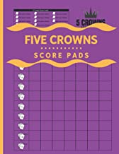 5 Crowns Score Pads: 120 Large Score Sheet Book for Scorekeeping.
