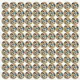 Cikonielf 100 Stück Holzknöpfe Kokosknöpfe Kinderknöpfe Bunte knöpfe zum basteln Dekorative...