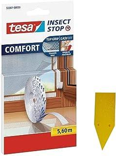 Tesa Insect Stop Comfort Zelfklevende klittenbandstrips voor insectennet, navulverpakking (reservelol 5,6 m)