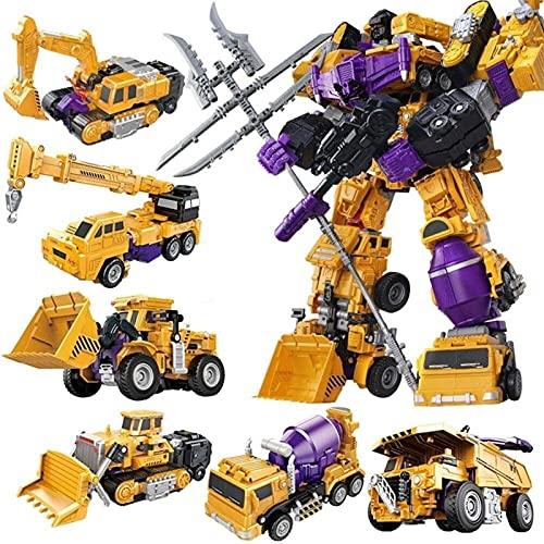 transformers war for cybertron Transformer Devastator Action Figure robot toy, 6 in 1 hero Rescue fighting vehicle technology robot, barrier sweeper bulldozers hooks pendant blender optimus prime