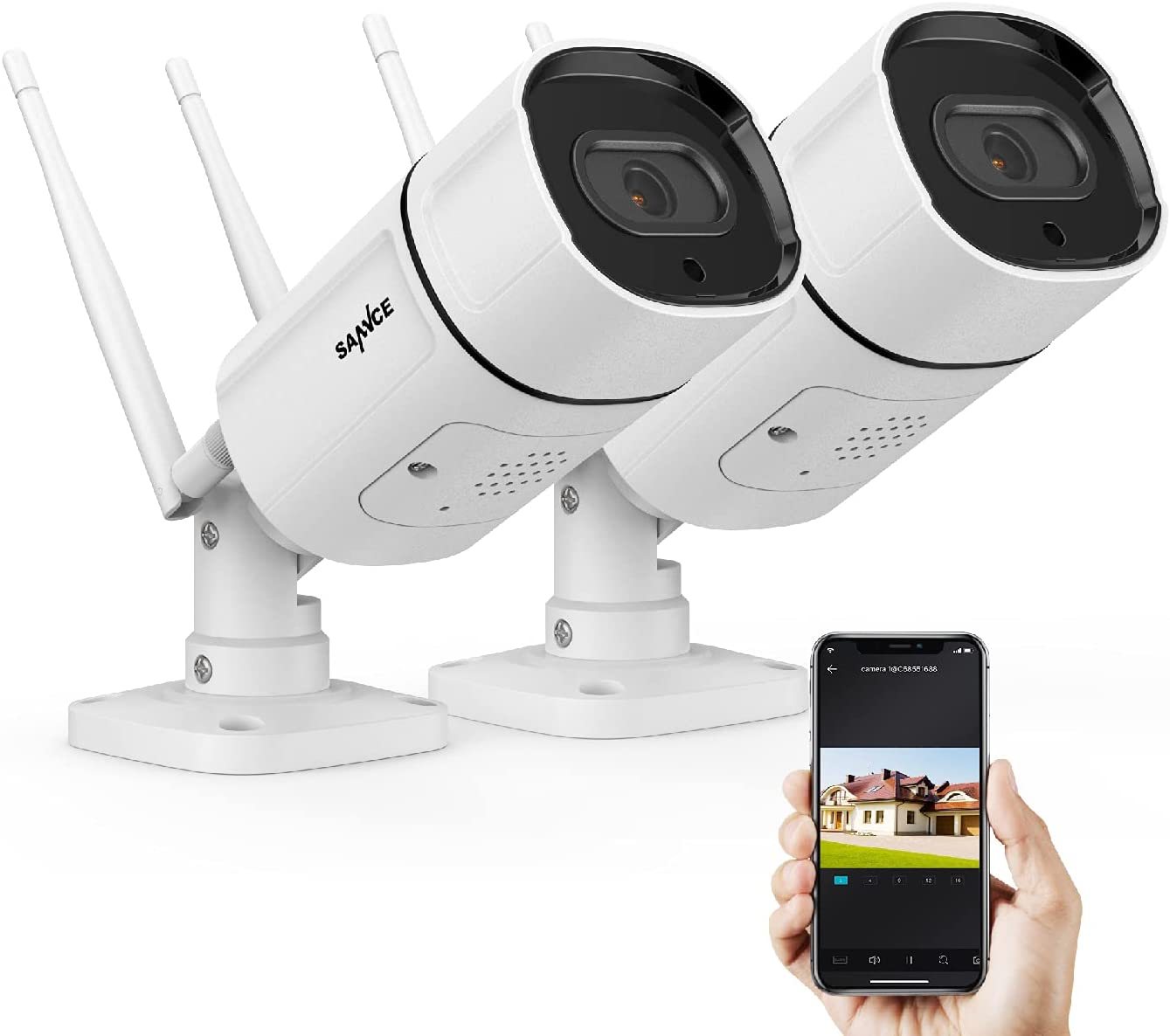 供え 2K 3MP Wireless IP Camera 返品不可 SANNCE Outdoor Super HD Secu