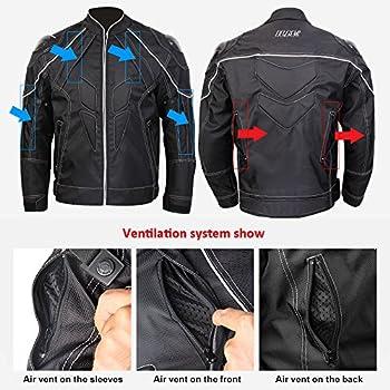 Veste de moto ILM, en fibre de carbone, veste pour homme et femme