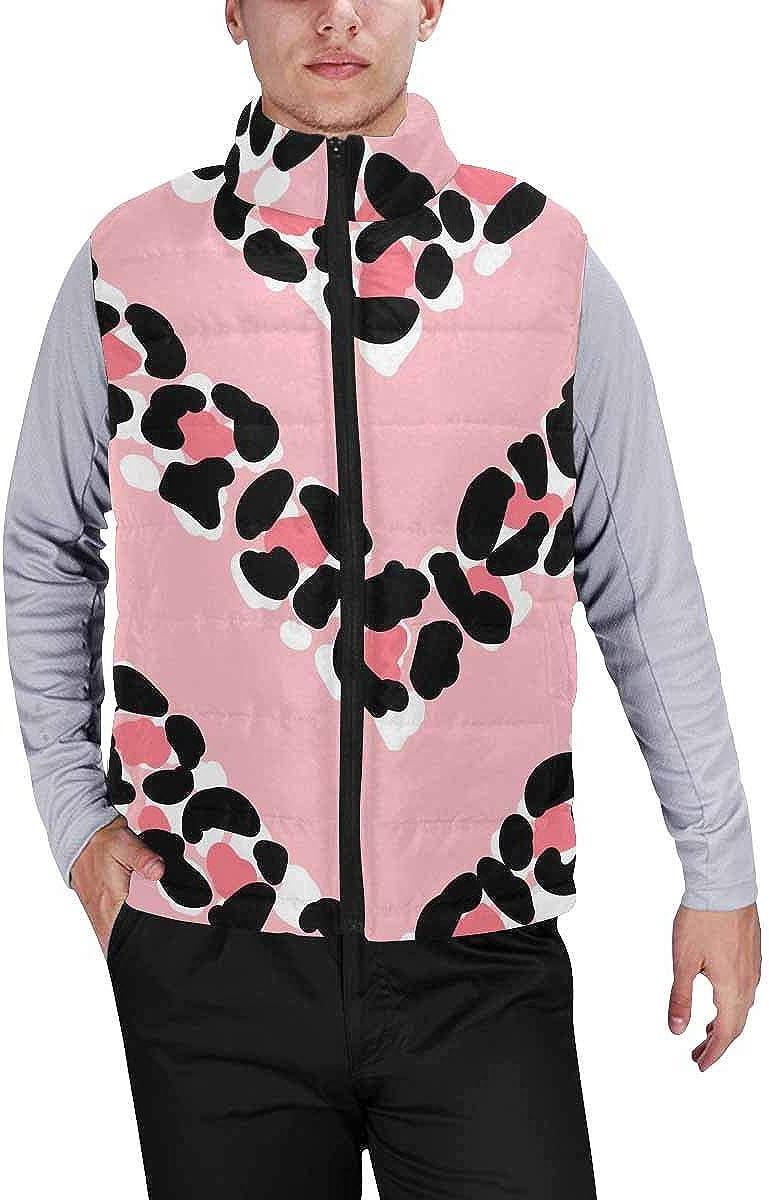 InterestPrint Men's Breathable Sleeveless Coat for Climbing Leopard Patterns