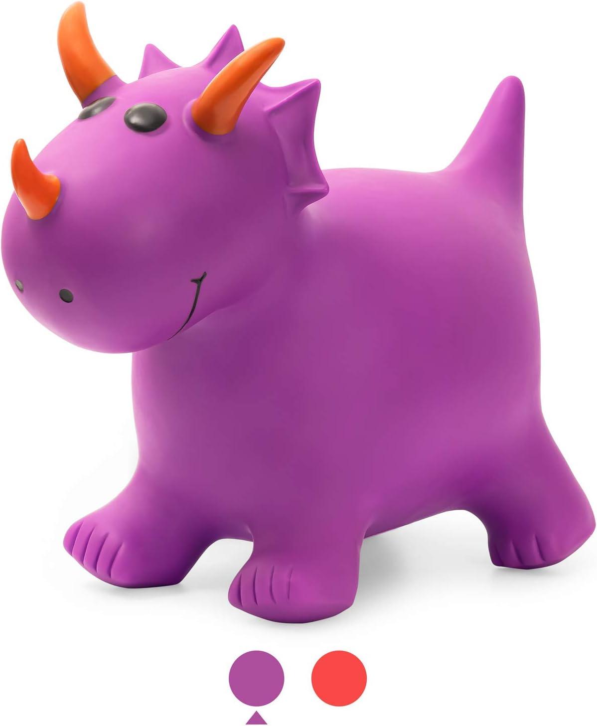 ROBUD Dinosaur Bouncy Horse Hopper, Inflatable Ride On Toys for