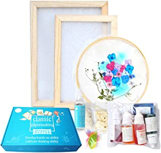 Complete Handmold Papermaking Kit Handmade Paper Art Crafts Set for Children with Screen Frame Great Gifts for Girls Boys ...
