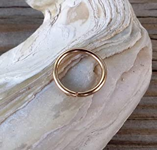14K Solid Gold Septum Ring,Nose Ring,Daith Piercing Ring,Cartilage,Helix,Tragus,Ear Hoop Earring