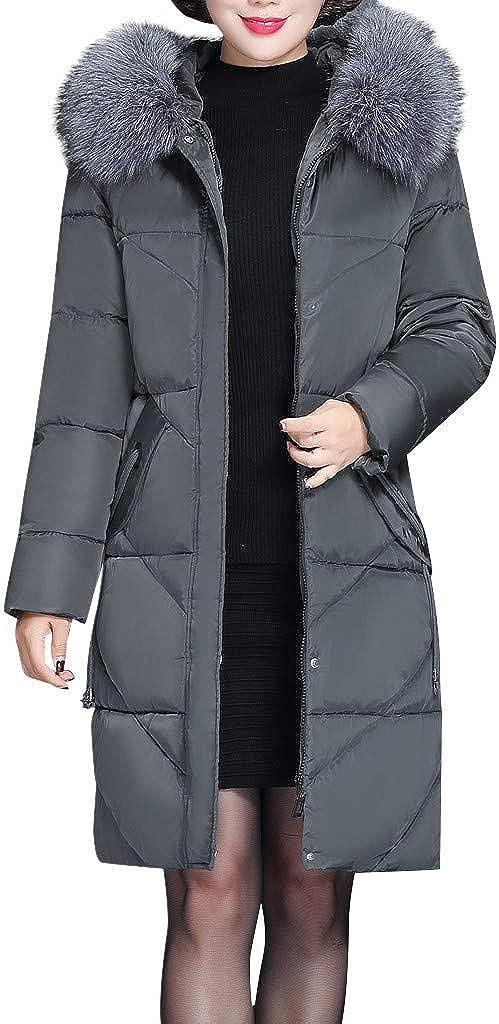 Keepmove 2019 Winter Women Coat Winter Warm Thick Outerwear Hair Collar Zip Coat Slim Padded Jacket