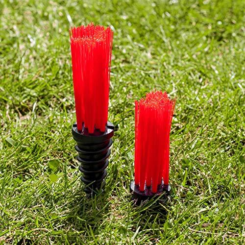 FORZA StadiumMax Mechones para Marcar Campos   Marcadores para Enroscar [25 Unidades] (Rojo)