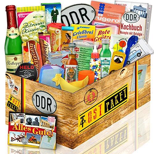 DDR 24tlg. Geschenkbox mit Ost Spezialitäten / Geschenk für Freund Geburtstag