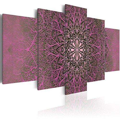 murando Cuadro en Lienzo Mandala 200x100 cm Impresión de 5 Piezas Material Tejido no Tejido Impresión Artística Imagen Gráfica Decoracion de Pared Ornamento f-A-0515-b-o