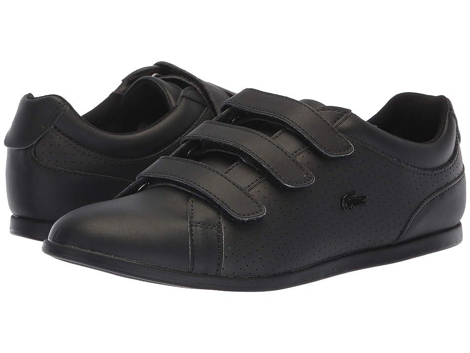 e6598b7f5 Lacoste Rey Strap 318 2 (Black Black) Women s Shoes