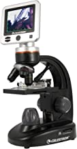Celestron – LCD Digital Microscope II – Biological Microscope with a Built-In 5MP Digital Camera – Adjustable Mechanical Stage –Carrying Case and 1GB Micro SD Card