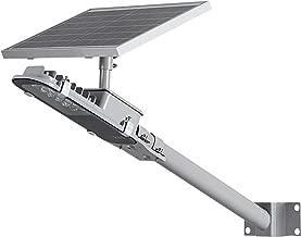 TIN Sum 12W LED Solar Street Light,1200LM 6500K Solar Powered Pole Light, IP65 Waterproof Security Area Night Lighting for Street Gutter Patio Garden Path