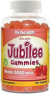 Jubilee Gummy Biotin 5000mcg, Gummy Vitamin, Plant Based, Gluten Free, Natural Strawberry Flavor (120 Gummies)